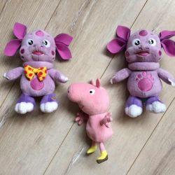 Jucarii umplute Luntik si Peppa Pig