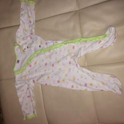 Overalls pajamas for girls 6-12 months 6 pieces