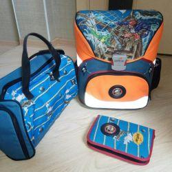 Sırt çantası, çanta, kalem kutusu. DERDIEDAS
