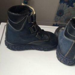 Kürklü ortopedik çizmeler