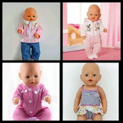 Clothes, shoes baby bon, Annabel dolls