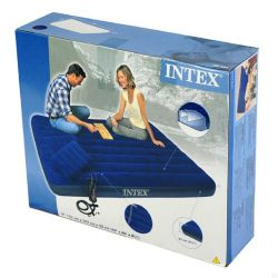 Intex mattress with pillows and pump