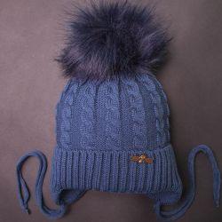 Kış şapka, mavi