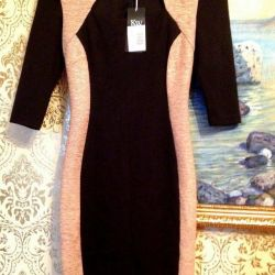 dress with beige accents on the sides