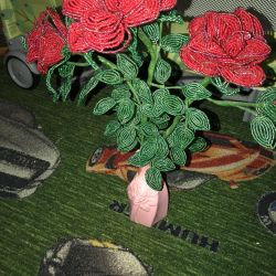 Gift Roses from beads