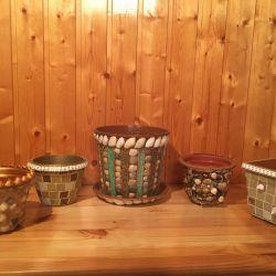 Flower pots handmade