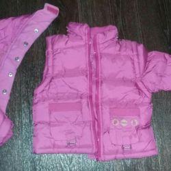 Ceket-yelek ilkbahar sonbaharında 74-80 cm