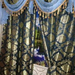 Curtains tulle and lambrequin