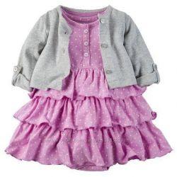 Детское платье боди и кардиган новое 18-24м