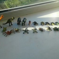 Animal dinosaurs made of plastic