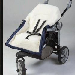 Конверт детский в коляску на меху, размер 43*93