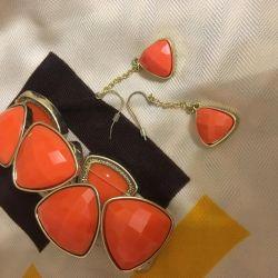 Set (bracelet + earrings)