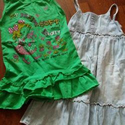 платья летние на 5-6 лет