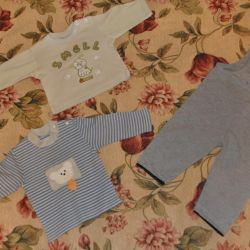 A bag of clothes for a boy of 6-12 months