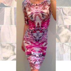 Φόρεμα πλεγμένο John Zack ροζ στο γόνατο