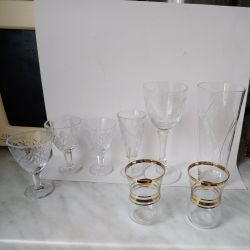 glasses and piles