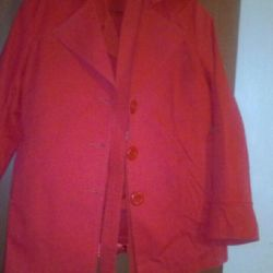 Knitwear trench coat and shirt