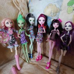 6 dolls monster high. Original.