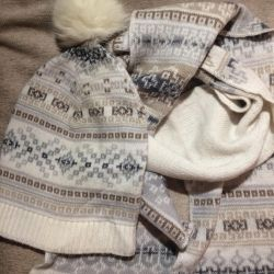 Χειμερινό σετ (καπέλο και κασκόλ)
