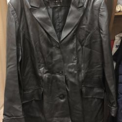 Female jacket made of genuine leather