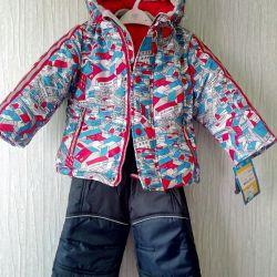 Новый с биркой зимний комплект куртка и полукомб.
