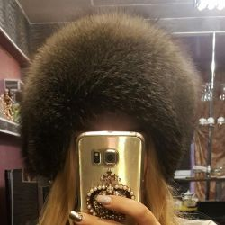 Silver fox hat