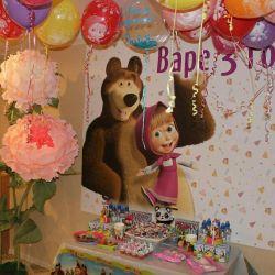 Баннер-плакат на день рождения девочки Варе