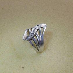 Ασημένιο δαχτυλίδι με ένθετα δοκιμής 925