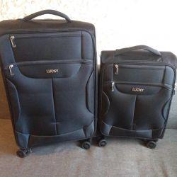 58 ve 35 litre için yeni siyah düz bavul