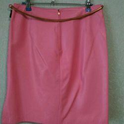 Leather skirt VERSACE.