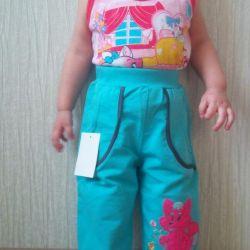 Новые штанишки с этикеткой с кармашками