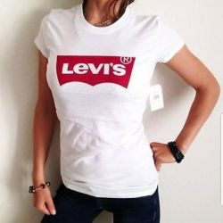 new t-shirt brand levis women's white and black