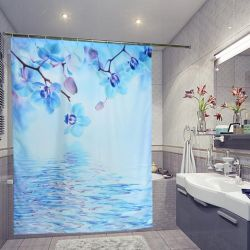 Photocurtain for the bathroom