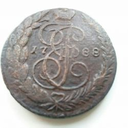 1788 Catherine 2 madeni para