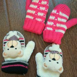 Mănuși pentru fete (pentru 2 perechi)