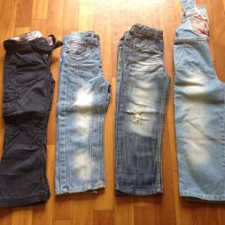 Jeans for 104-110 cm