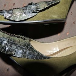 New Paolo conte shoes with reptile skin