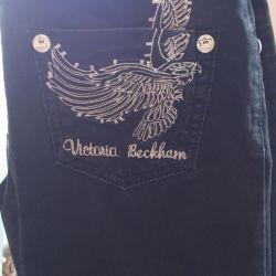 Джинсы Viktoria Beckham черные
