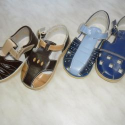 sandals new to the boy