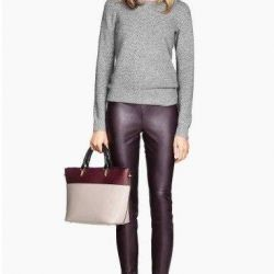 eco-leather trousers from HM