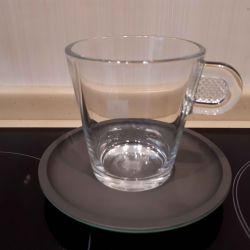 Nespresso cup and saucer cappuccino