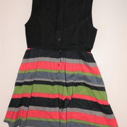 Summer dress from dense material