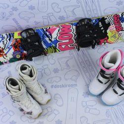 Flow Bliss 135 cm snowboard + bindings + boots