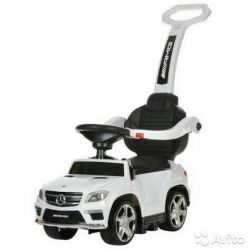 Children's tolokar wheelchair Mersedes-Benz - white color