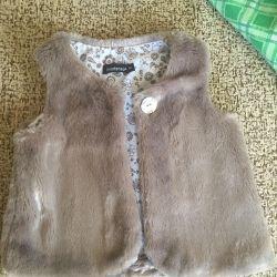 Fur vest for a little fashionista! Exchange
