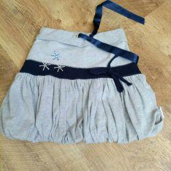 Children's knitted skirt