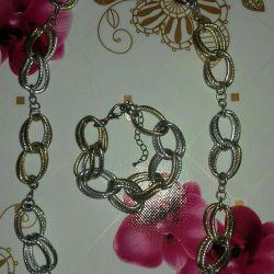 COSTUME JEWELERY Chain and bracelet.