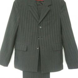 Suit on the schoolboy.