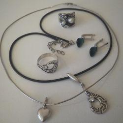 Δαχτυλίδια, σκουλαρίκια ..... (ασήμι)