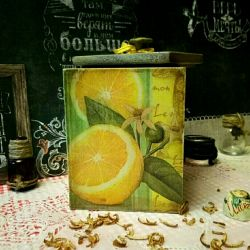 Короб кухонный вкусняшки чай кофе винтаж подарки